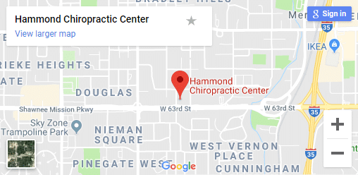 Map of Shawnee KS Chiropractors