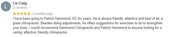 Chiropractic Shawnee KS Patient Testimonial at Hammond Chiropractic Center